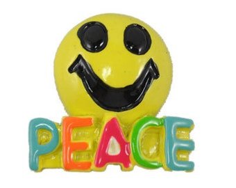 Peace Smiley Flatback Resins