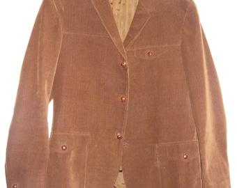 1960s Vintage Brown Cord Jacket