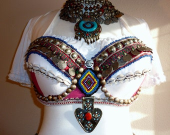 Tribal Bra White-Red, Size 95D