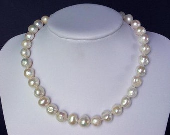 Necklace High Luster FW White Pearls 12mm Baroque NHPW0397