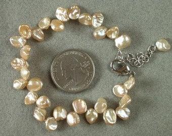 bracelet Keishi Pearls 8mm Champagne NHKG0083