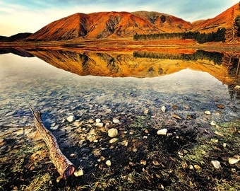 Landscape Fine Art Print, New Zealand, Lake Clearwater at dawn