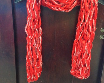 Fashionable and Warm Arm-Knit Scarves