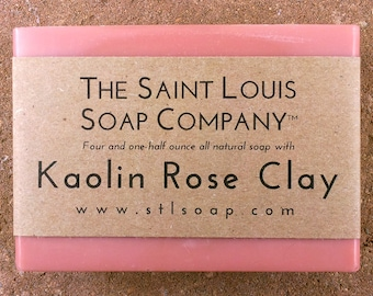 Kaolin Rose Clay – Vegan Soap, Fragrance Free Soap, All Natural Soap, Hand Made Soap, Clay Soap, Rose Clay Soap, Mineral Soap, Handmade Soap