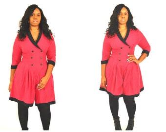 vintage jumpsuit/ Vintage playsuit/ Vintage culotte jumpsuit/ vintage romper/ Size 12
