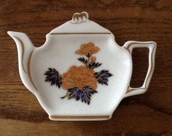 Vintage A. RAYNAUD & CO. Limoges Frances Tea Bag Holder