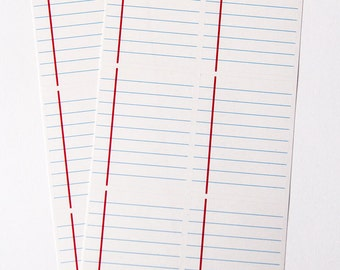 12 lined paper stickers, full box square sticker, planner sticker, checklist sticker, ruled notebook square eclp filofax happy planner