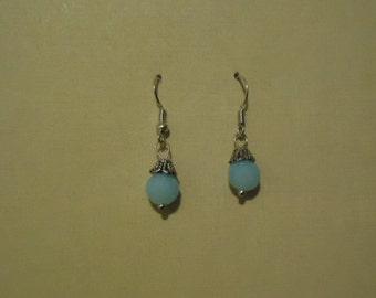 Item # 2005 Lt. Blue Glass Earrings