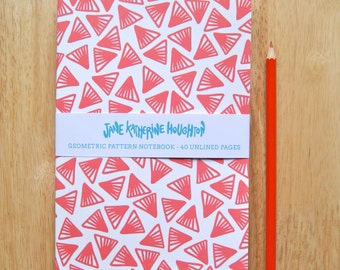 Geometric Red Notebook