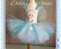Elsa Tutu Dress. Snowflake Tutu Dress. Frozen Tutu Dress. Inspired Handmade Dress. All Sizes Fully Customised. Elsa Applique. Princess Tutu