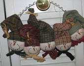 The Flakes - Snowman Wall Hanging - Door Hanging