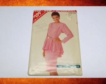 Vintage Sewing Pattern - See and Sew Pattern 3064 Women Top and Skirt. circa 1988.  US Size 16-20. #PAT-077