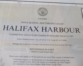 Halifax Harbour ~ SE Coast of Nova Scotia, Canada - Includes Eastern Passage and Georges Island - Extreme detail - Nautical Chart #1216