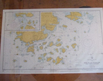 Deer Island Thorofare and Casco Passage ~ Maine, East Coast - Includes Buckmaster, Whitmore, and Stinson Neck, and Merchants Row, Cht #1254