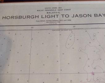 Horsburgh Light to Jason Bay ~ Malay Peninsula - East Coast - Malaysia, South China Sea - Nautical Chart #6205