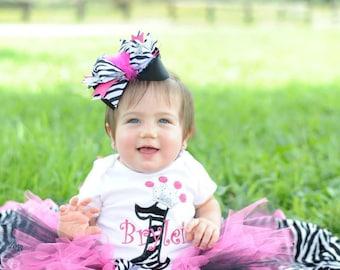 Zebra Princess Birthday Tutu Set