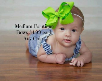 Medium Boutique Hairbow Any Color