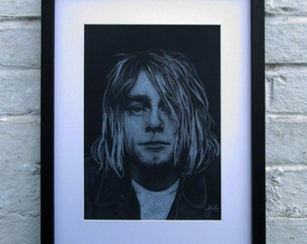 A4 Kurt Cobain Nirvana Giclee print