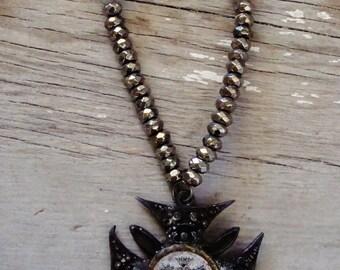 Mens rocker necklace
