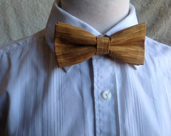 gold mat bow tie