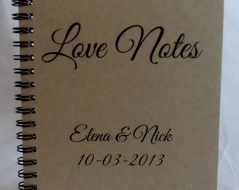 Love Notes Journal, Notebook, Personalized Journal