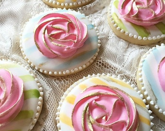 Shabby Chic Wedding Cookies