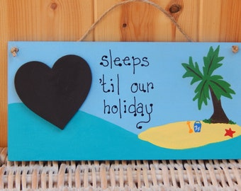 Holiday Countdown, Summer holiday planner, Family holiday planner, Chalkboard, Vacation planner