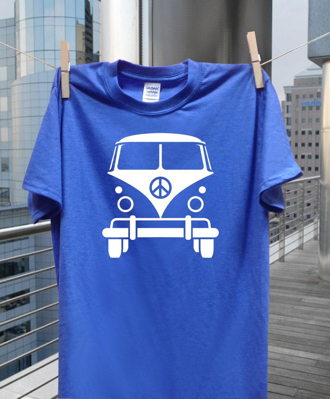 vw bus tshirt volkswagen bus shirt mens tshirt by. Black Bedroom Furniture Sets. Home Design Ideas