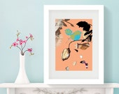 A3 Framed print created from original artwork using mixed media & collage then digitally manipulated.