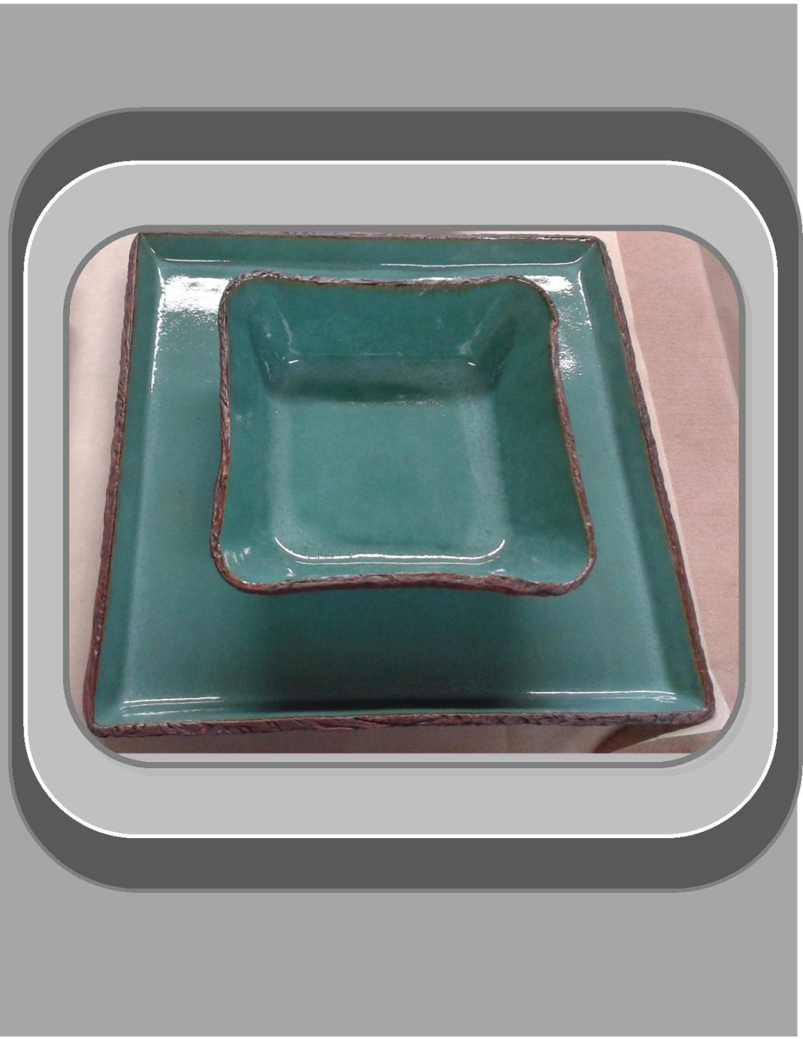unique handmade square dinner plates and square bowls single