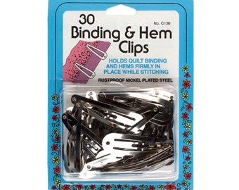 30 Quilt Binding & Hem Clips by Collins Item # W-136