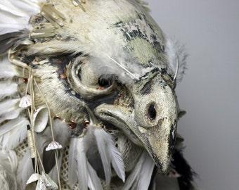 Falcon Bird Mask (Full head) ÷ Paper Mask