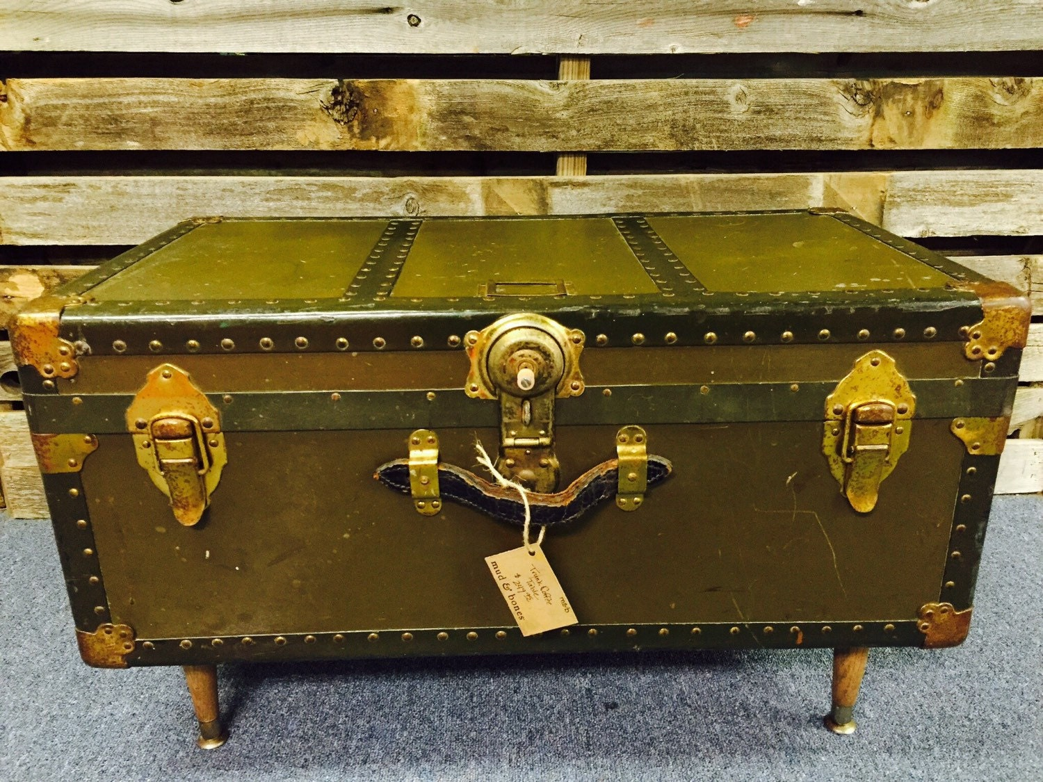 Steamer Trunk Coffee Table By Mudnbones On Etsy