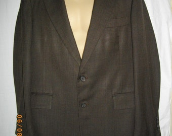 Brown Carroll Beverly Hills Jacket Single Breasted Sport Coat Two Button Blazer