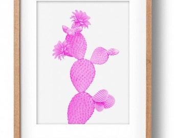 Okay Luna 'Pink Cactus' Print A3