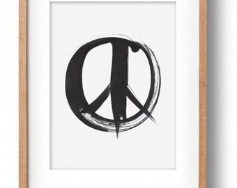 Okay Luna 'Peace' Print A4