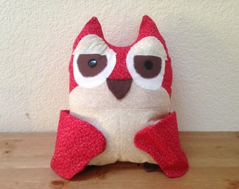 Owl decorative pillow with storage pockets  25% off!!