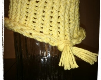 100% cotton hat with tie back embellishment