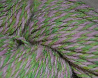 Pink and Green Wool blend yarn