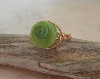 hand crafted wire wrap ring