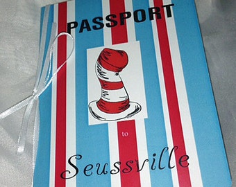 Dr. Seuss Passport Birthday Invitation - Welcome To Seussville Passport Birthday Invitation