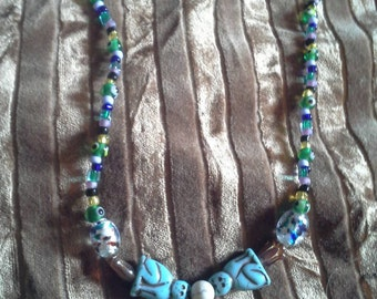 Egyptian style bead necklace