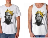 Floyd Mayweather Slim Fit King Crown Unisex Boxing Portriat Tank Top or Tee T-shirt White