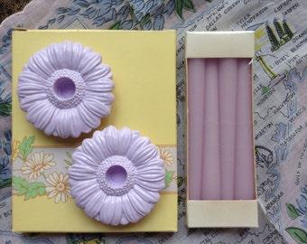 Vintage 1985 Avon Fancy Flower Candle Holders