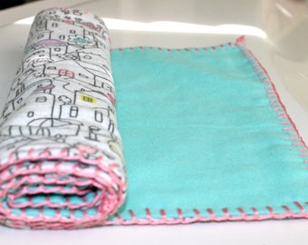 Cozy, flannel baby burp cloth.