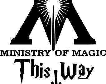 Harry Potter This Way To The Ministry Of Magic Funny Toilet Decal for Home