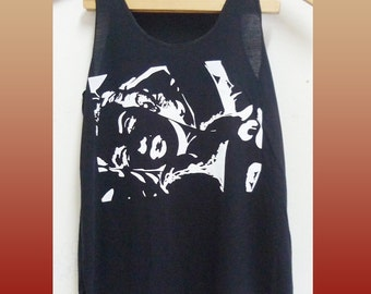 Clearance Sale Marilyn Monroe tank top sleeveless top/ singlet/ black tee/ teen girl clothes size XS extra small
