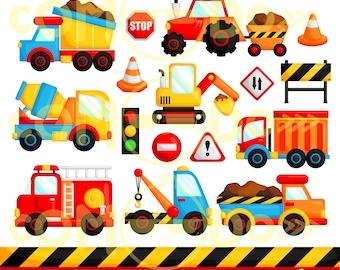 50%OFF!! Construction Truck Clipart - Cute Clipart, Truck  Clipart, Fun Clipart, Clipart Set