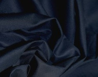 Dark navy 100% cotton fabric.