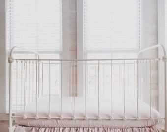 Fitted Crib Sheet - Pink Crib Sheet - Girl Crib Sheet - Baby Girl Sheet - Crib Sheet Pink - Baby Pink Fitted Crib Sheet - Pink Sheet